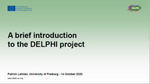 presentation of the project with objectives and outcomes
